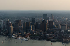 Boston Skyline. The Skyline of Boston photographed from a plane Stock Photos