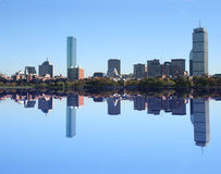 Boston Skyline reflected Stock Image