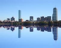 Boston Skyline reflected Stock Image