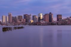 boston skyline s?o?ca fotografia stock