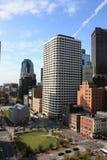 Boston-Skyline am Sommer Stockbild