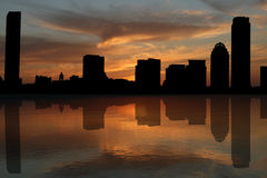 Boston skyline at sunset Royalty Free Stock Image
