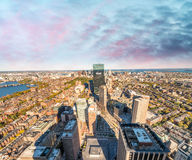 Boston skyline at sunset, Massachusetts - USA.  Royalty Free Stock Images
