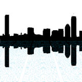 Boston skyline with text Royalty Free Stock Photography