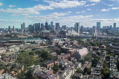 Boston skyline, USA. Boston skyline. Picture has been taken from Charlestown, MA stock photography