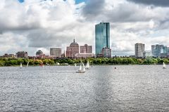 Boston skyline view from Charles River stock image