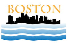 Boston skyline W Royalty Free Stock Photos
