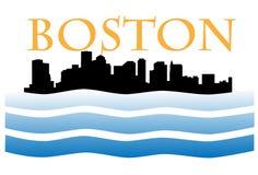 Boston skyline W Royalty Free Stock Photos