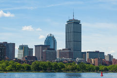 Boston skyline from waterfront , Massachusetts, USA Royalty Free Stock Images