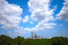 Boston-Skyline Weitwinkel Stockfotografie