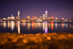 Boston Skyline. From West side Stock Images