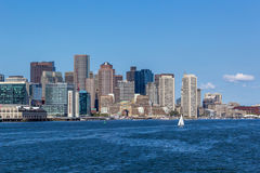 Boston Harbor Skyline royalty free stock photography