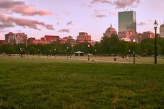 boston skymninghorisont royaltyfri fotografi