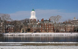 Boston in Snow - Harvard Stock Images