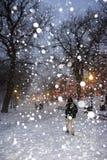 boston snowstorm Arkivbild