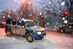 boston snowstorm fotografering för bildbyråer