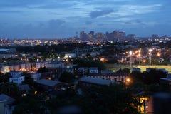 boston solnedgång arkivbilder