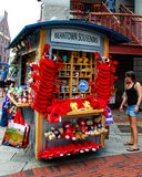 Boston Souvenir stand in Faneuil Hall, Boston, MA. Royalty Free Stock Image