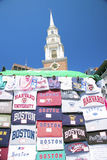 Boston souvenirs and church Royalty Free Stock Images