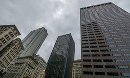 Boston stad - ett perspektiv Fotografering för Bildbyråer