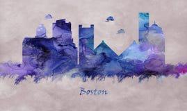 Boston stad i Massachusetts, horisont vektor illustrationer