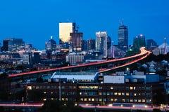 Boston stadshorisont fotografering för bildbyråer