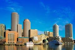 Boston stadssikt Arkivbild