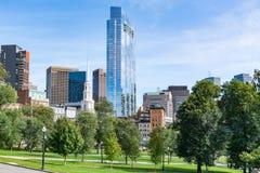 Boston-Stadt-Skyline lizenzfreie stockfotos