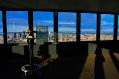 Boston-Stadtansicht von der Aussichtsplattform Lizenzfreie Stockfotos