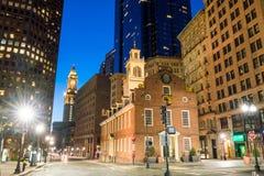 Boston Starego stanu Domowy buiding w Massachusetts Obrazy Stock