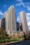 Boston Street Buildings - Boston, Massachusetts, USA. Boston Street Buildings in Boston, Massachusetts, USA Stock Photos