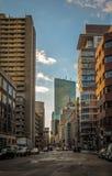 Boston Street Buildings - Boston, Massachusetts, USA. Boston Street Buildings in Boston, Massachusetts, USA Royalty Free Stock Photo