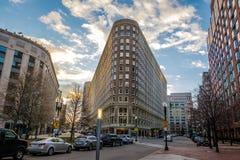 Boston Street Buildings at sunset - Boston, Massachusetts, USA. Boston Street Buildings at sunset in Boston, Massachusetts, USA Stock Photography