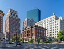 Boston street crossroads Royalty Free Stock Image