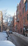 Boston street scenery at winter time Stock Photo