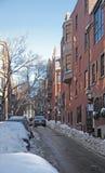 Boston street scenery at winter time Stock Photo