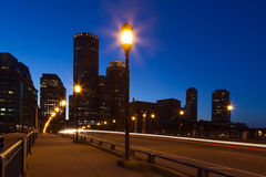 Boston streets by night Stock Image