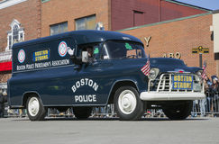 Boston Strong, Police, St. Patrick's Day Parade, 2014, South Boston, Massachusetts, USA Stock Photo