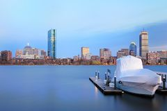 Boston Sunset Royalty Free Stock Photography