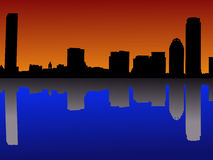 Boston at sunset Stock Photo