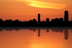 Boston at sunset Royalty Free Stock Photo