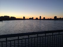 Boston Sunset Royalty Free Stock Images