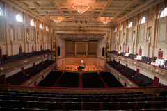 Boston Symphony Hall. Elevated view of Symphony Hall, Boston Mass, home of Boston Symphony Orchestra and Boston Pops Stock Photo