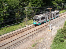 Boston T-line races down track Stock Photos