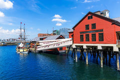 Boston Tea Party in Massachusetts Royalty Free Stock Images