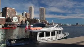 Boston Tea Party Museum, which is a floating history museum. BOSTON,MASSACHUSETTS,USA - JULY 2,2016: Boston Tea Party Museum, which is a floating history museum stock video