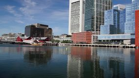 Boston Tea Party Museum, which is a floating history museum. BOSTON,MASSACHUSETTS,USA - JULY 2,2016: Boston Tea Party Museum, which is a floating history museum stock video footage
