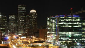 Boston time lapse at night stock video
