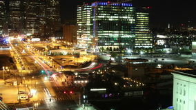 Boston time lapse at night stock video footage