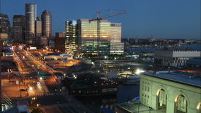 Boston time lapse with sunrise. Video of boston time lapse with sunrise stock video
